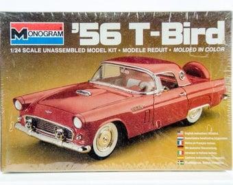 Sealed Vintage Monogram 1956 '56 Ford T-Bird 1/24 Scale Model Car Kit