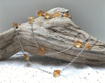 Long Bohemian sterling silver Venetian glass Jewelry Set / Necklace / Bracelet