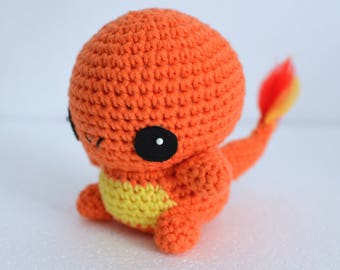 Charmander Salamèche Pokemon Crochet Cute Amigurumi Doll Toy Gift Idea Decoration Kawaii