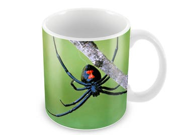 Black Widow Spider  Ceramic Coffee Mug    Free Personalisation