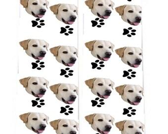 White Background Custom Dog Socks, Dog Face Socks, Design your own Dog Socks, Pup Socks