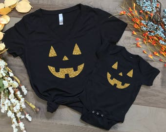 halloween shirts, pumpkin face shirts, matching t shirts, halloween costumes, trick or treat, happy halloween, matching halloween shirts