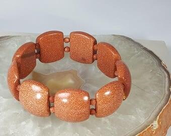 Gemstone goldstone bracelet