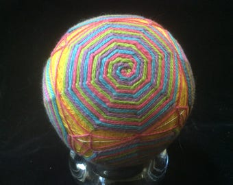 27 cm Rainbow Swirl Temari