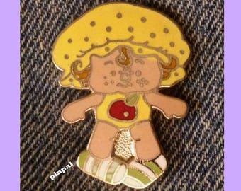 Vintage 1980 Apple Dumplin Brooch Pin ~ Cloisonne ~ A.G.C. ~ Strawberry Shortcake Set ~ © American Greeting Cards