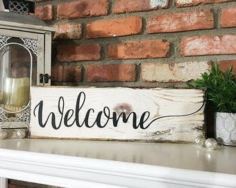 Welcome Wood Sign, Custom Wood Sign, Rustic Sign, Home Decor