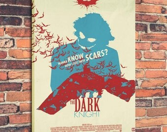 Movie Posters for The Dark Knight Art Print on Canvas Home Wall Decor