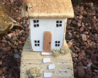 Handmade,Driftwood,Cottage,House,Collectable,Handmade,Miniature,Gift