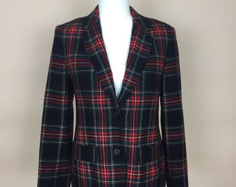 1970s Pendleton Plaid Blazer Jacket