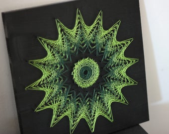 Green geometric Mandala art