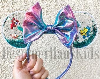Mermaid Arial Inspired Mickey Ears The Little Mermaid