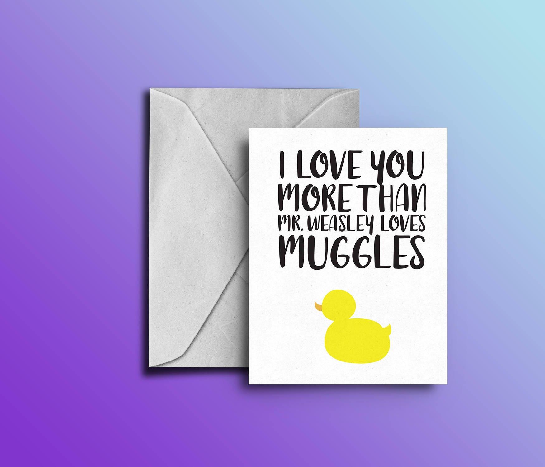 Harry Potter Valentineu0027s Day Card U2015 Nerdy Love Card U2015 Print At Home  Anniversary Card U2015