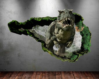 Dinosaur Wall Decal D Dinosaur TRex Wall Art Sticker Decal - 3d dinosaur wall decals