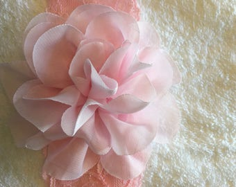 Toddler/Child Pink Lace Floral  Headband