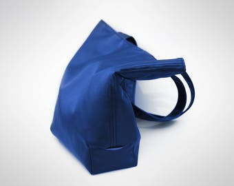 Double sided tote bag - Royal blue