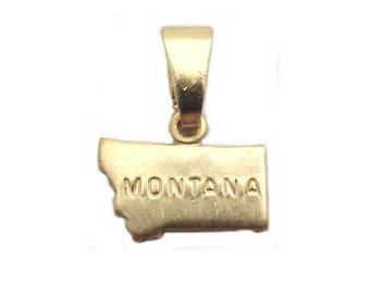 6 Montana State Pendants Brass