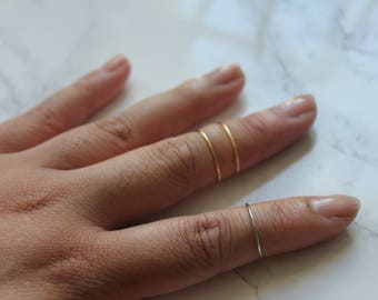 Midi Ring Set of 3 | Basic Bands | Adjustable, Stackable and Minimalist Ring