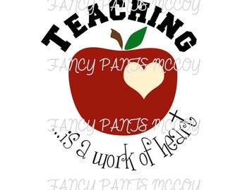 Teaching is a Work of Heart SVG