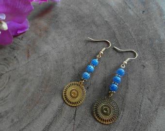 Beautiful Blue Agate Earrings