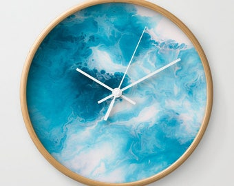 Wall Clock, Original Art Print Clock, Interior - Blueberry. Custom Order, Pre Order