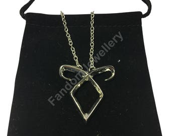 Mortal Instruments Angelic Power Rune Necklace ShadowHunter Pendant Clary Jace 1