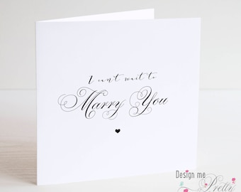 I can't wait to Marry you card - from Bride or Groom