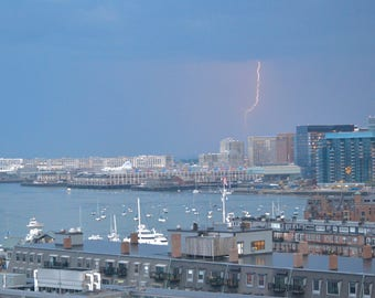 Lightning over Boston