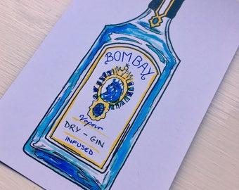 Bombay Gin Print