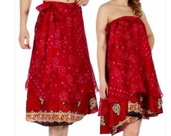 Boho Skirt ,Gypsey Skirt,Sari Top/Skirt