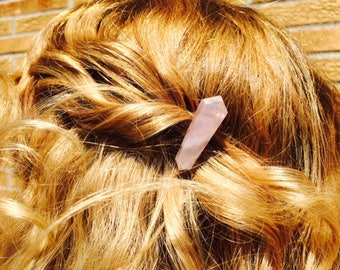 Rose Quartz Hair Comb