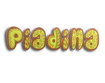 Piadina - Piadina sign, shop sign, 3D letters, food sign, bar sign, wall letters, wall sign, letter sign | Tropparoba - 100% made in Italy