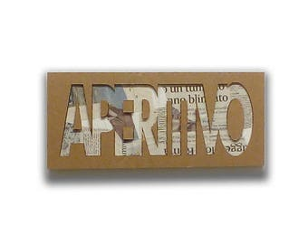 Appetizer - Italian signs, cardboard furniture, food sign, sign in board, sign for kitchen, door sign | Tropparoba - 100% made in Italy