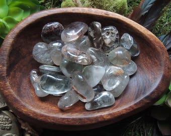 Garden Quartz / Inclusion Quartz / Lodolite / Polished Garden Quartz / Tumbled Lodolite / Polished Tumbled Garden Quartz / Lodalite