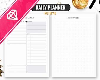 Daily Planner Printable, Daily Planner, Daily Planner 2018, Daily Planner PDF, Daily Schedule, Daily Agenda, Day Planner, Day Organizer