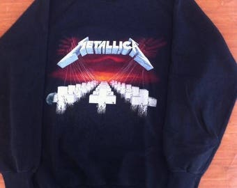 Vintage Metallica Master Of Puppets Org Sweater 87