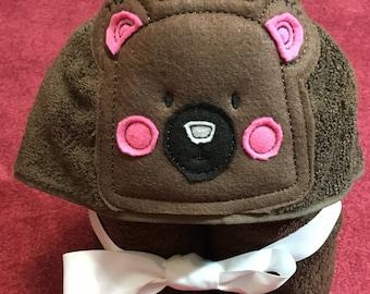 Bear Bath Towel/Kids Hooded Towel/Animal Towel For Kids/Kid Beach Towel/Baby Shower Gift/Kid Valentine Gift/Baby Hooded Towel/Gift For Kids