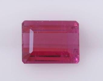 2.69 ct Emerald Cut Rubelite, Natural Rubelite, Emerald Rubelite, Pink Tourmaline, Red Tourmaline, Loose Gemstone, Natural Tourmaline, Gem