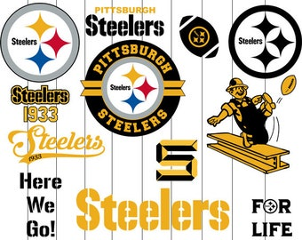 INSTANT DOWNLOAD- Pittsburgh Steelers Svg, Pittsburgh Steelers Clipart, Decal, Pittsburgh Steelers Cut File, Pittsburgh Svg file Eps Dxf