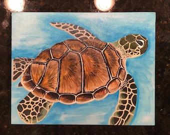 Hand Painted Sea Turtle