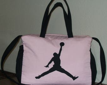 MICHAEL JORDAN PINK and Black Diaper Bag