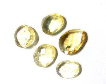 Citrin faceted gemstone 16 to 19mm