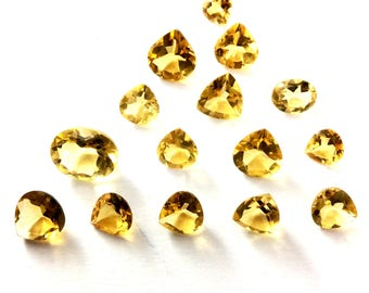 Citrin faceted gemstone 6 to 11mm