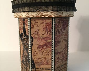 """Keepsake / Gift box - """"French Couture"""" Collection."""