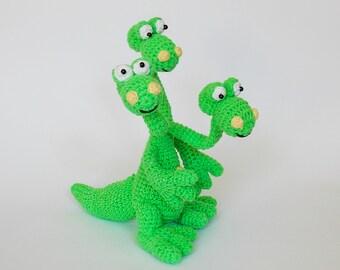 Amigurumi crochet pattern dragon / crocheted dragon / amigurumi pattern dragon / crochet pattern monster / stuffed monster / amigurumi toys