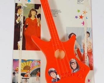 Donny & Marie Rock Guitar Toy Guitar - 1976 Osbro Gordy International Donny Osmond Marie Osmond 1970s Toys