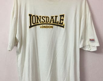 SALE ! Vintage LONSDALE tshirt spell out logo big logo