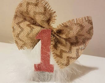 Feather and Bow Baby Crown