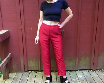 Ann Taylor Red Silk Pants