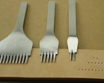Leather Tools Treatments Crafts DIY stitching punch Pricking Iron 3.38mm /3.85mm spacing