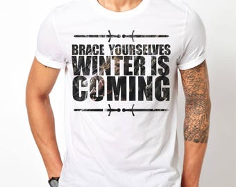 Mens Game Of Thrones Winter Is Coming - White T-Shirt